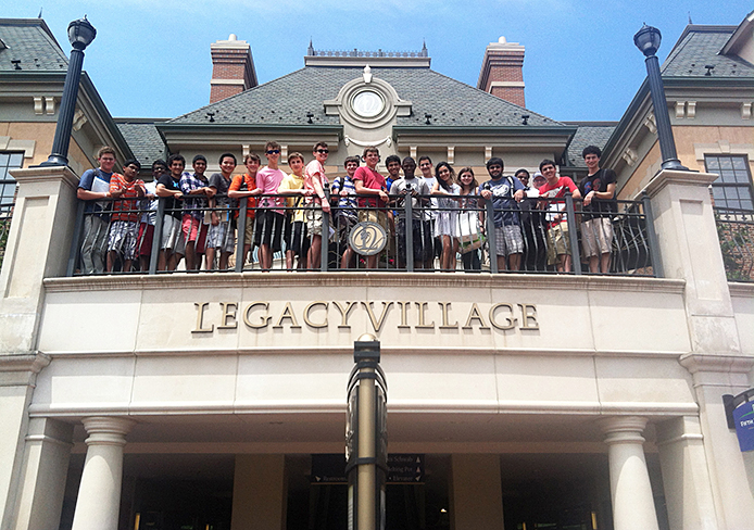 LightHouse Entrepreneurial Accelerator Program students on a customer validation field trip to Legacy Village in Lyndhurst, Ohio. Credit: Courtesy of Zach Schwartz and Samir Amrania