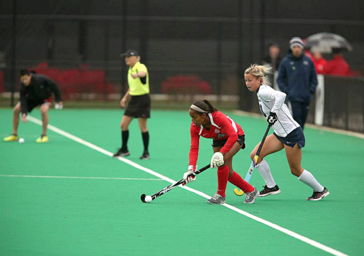 Courtesy of Facebook Then-junior Arielle Cowie controls the ball during a game against Penn State Oct. 19, 2012, at Buckeye Varsity Field. OSU lost, 3-0.