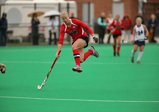 Then-senior forward Danica Deckard passes the ball during a game against Penn State Oct. 19, 2012, at Buckeye Varsity Field. OSU lost, 3-0. Credit: Courtesy of Facebook