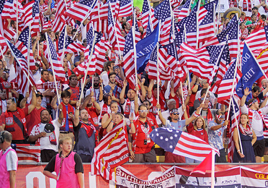United States Men's National Team supporters cheer on the U.S. during a game against Mexico Sept. 10, at Crew Stadium. The U.S. won, 2-0.
