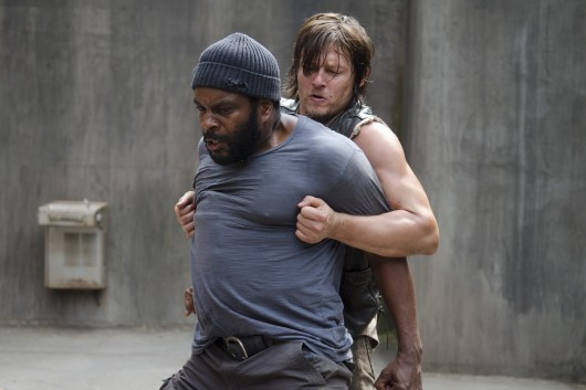 Tyreese (Chad Coleman), left, and Daryl Dixon (Norman Reedus) in a scene from Season 4 Episode 3 of 'The Walking Dead.'