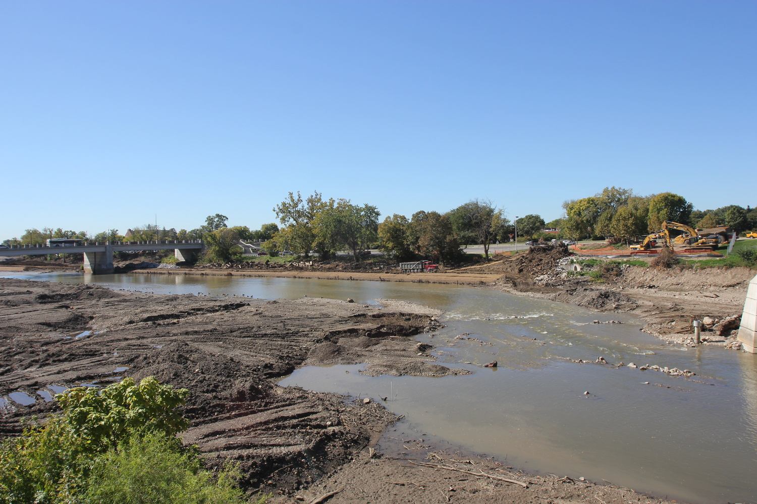 The Olentangy River renovation is set to be completed by the end of May. Credit: Shelby Lum / Photo editor