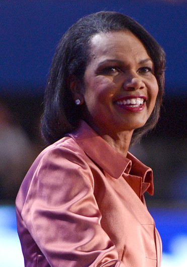Former Secretary of State Condoleezza Rice speaks to the delegation at the Republican National Convention in Tampa, Florida, Aug. 29, 2012.