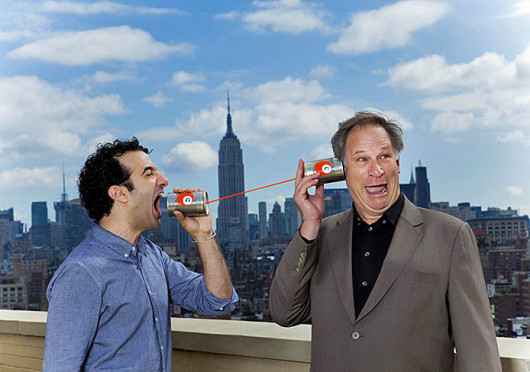 Jad Abumrad (left) and Robert Krulwich, co-hosts of NPR's Radiolab, whose live show 'Apocalyptical,' is scheduled to take place Oct. 3 at the Palace Theatre. Credit: Courtesy of Marco Antonio