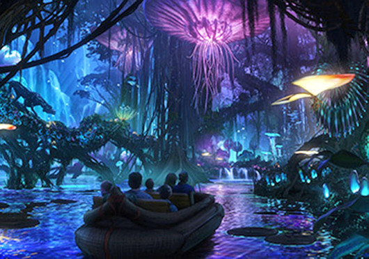 Disney unveiled a first look of its 'Avatar' themed section at the Animal Kingdom park, one of the four theme parks at Walt Disney World in Orlando, Fla., on the Disney Parks blog Oct. 12.  Credit: Courtesy of Disney
