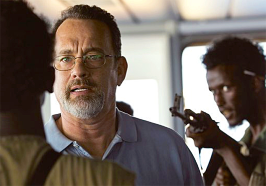 Tom Hanks in a scene from 'Captain Phillips,' which is set to hit theaters Oct. 11. Credit: Courtesy of Gofobo