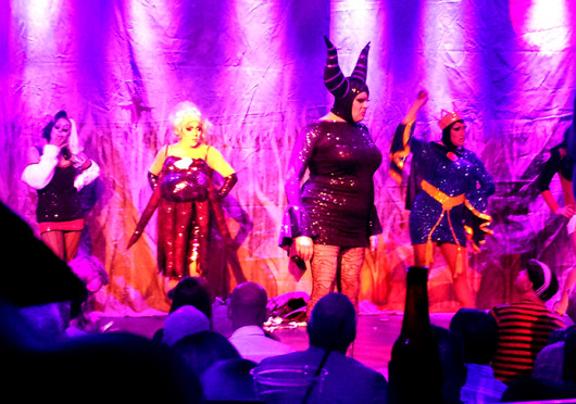 A group of performers during Nina West's Heels of Horror VI at Axis Nightclub, which is scheduled to run select dates until Nov. 2.  Credit: Breanna Soroka / Senior Lantern reporter