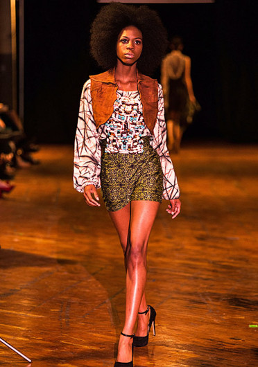 A model walks at the Alternative Fashion Week Grand Finale Runway Show June 8, wearing a design by Katelyn McClain. Credit: Courtesy of Vinh Vu