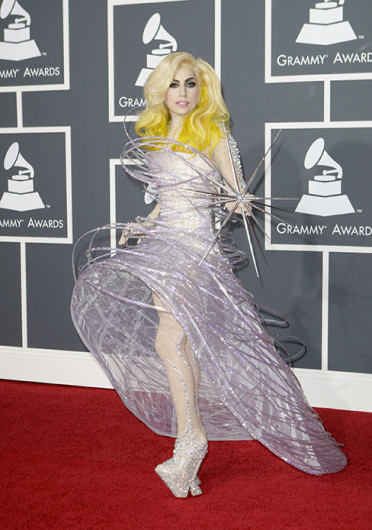 Lady Gaga at the 52nd Annual Grammy Awards at the Staples Center in Los Angeles on Jan. 31, 2010. Credit: Courtesy of MCT