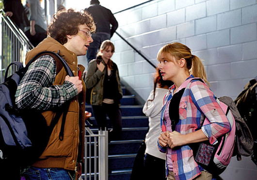 Aaron Taylor-Johnson, left, and Chloë Grace Moretz in a scene from 'Kick-Ass 2.'  Credit: Courtesy of MCT