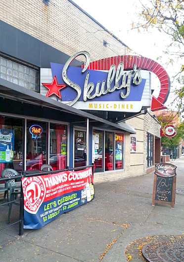 Skully's Music-Diner is slated to host 'Ladies '80s and More Halloween Costume Ball' Oct. 31. It is located at 1151 N. High St.  Credit: Kim Dailey / Lantern reporter