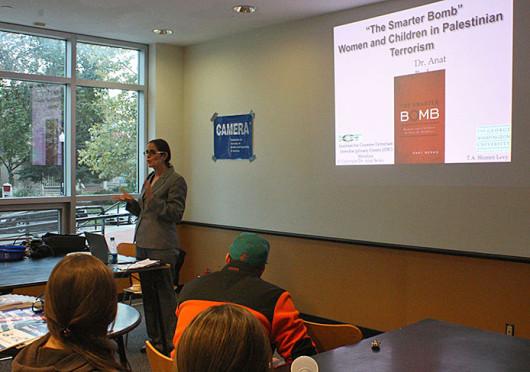 Anat Berko speaks at the OSU Hillel Center Oct. 15. Credit: Elizabeth Garabedian / Lantern photographer