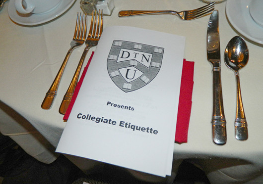 An etiquette dinner was hosted by the OSU Buckeye Career Club and the National Society of Leadership Oct. 30 at the Blackwell.  Credit: Maggie Mecklenborg / Lantern photographer