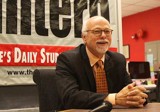 OSU Executive Vice President and Provost Joseph Steinmetz spoke to The Lantern Oct. 8. Credit: Shelby Lum / Photo editor