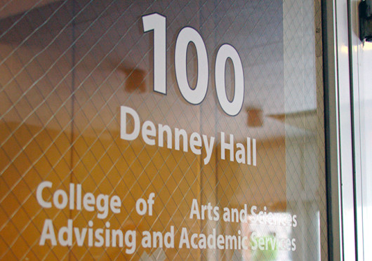 The Exploration advising office is located at 352 Denney Hall.
