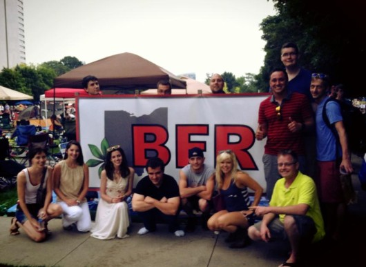Members of the Collegiate Recovery Community at a 4th of July celebration. Credit: Courtesy of Sarah Nerad