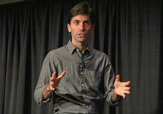 Nev Schulman performs at the Archie M. Griffin Grand Ballroom Nov. 4 for 'OUAB Presents: Catfish on Campus ft. Nev Schulman.' Credit: Ritika Shah / Asst. photo editor