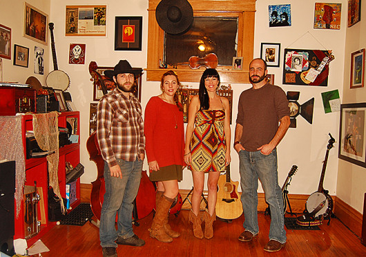 Columbus-based band The Song Birds focuses on pop-inspired Americana music and frequently switches vocalists during shows to refresh the listeners' ears.  Credit: Breanna Soroka / Senior Lantern reporter