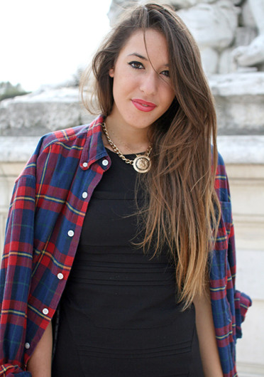 A button-up flannel shirt is just one way to grunge up your wardrobe.  Credit: Courtesy of MCT