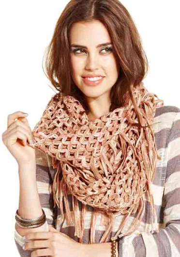 Add a scarf to your outfit this winter to protect yourself from the cold weather.  Credit: Courtesy of MCT