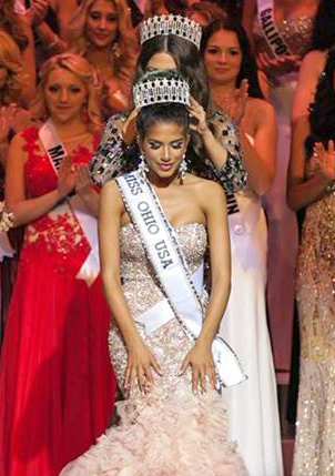 Fourth-year in political science Madison Gesiotto is crowned Miss Ohio USA 2014 Nov. 9. Credit: Courtesy of Edwin Shaw