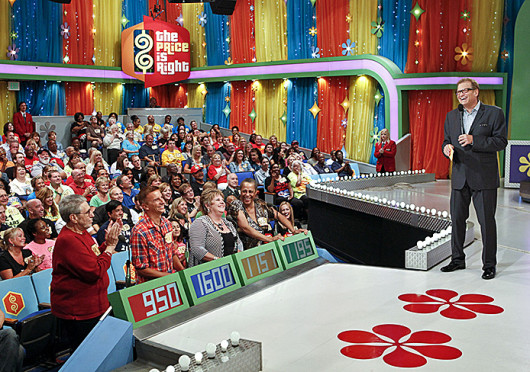 Host Drew Carey laughs during an episode of 'The Price is Right.' Ronald Lechner Jr., a 4th-year OSU student in chemical engineering, is scheduled to be featured as a contestant on the game show Nov. 15.  Credit: Courtesy of Monty Brinton / CBS