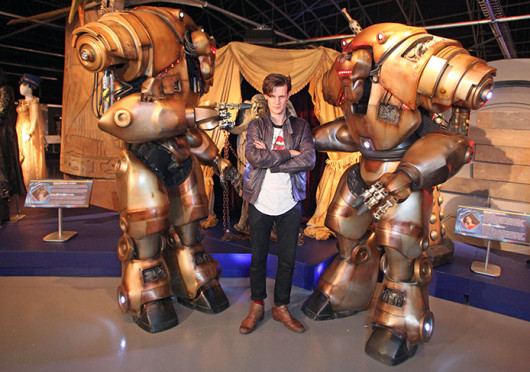 Matt Smith, who plays the current Dr. Who, at The Doctor Who Experience in Cardiff Bay. The show returns Nov. 23 for the 50th Anniversary Special. Credit: Courtesy of MCT