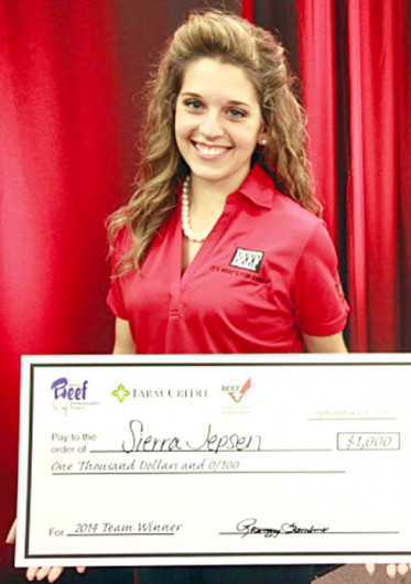 Sierra Jepsen, a second-year in agribusiness and applied economics, was selected to be one of five 2014 National Beef Ambassadors. Credit: Courtesy of Sierra Jepsen