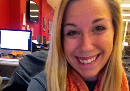 Caitlin Essig takes a selfie to celebrate the word being 'Word of the year.'