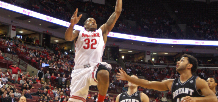 Ohio State men's basketball uses early lead to cruise by Bryant, 86-48