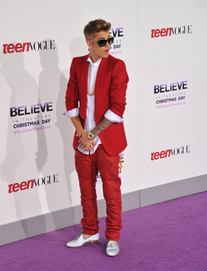 Justin Bieber, along with an array of celebs, stepped out for the world premiere of his new movie, 'Justin Bieber's Believe,' Dec. 18 at the Regal Cinemas L.A. Live in Los Angeles.  Credit: Courtesy of MCT