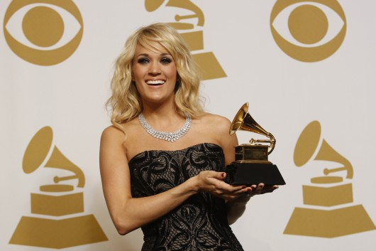 "Carrie Underwood backstage at 55th Annual Grammy Awards Feb. 10. Underwood played the role of Maria von Trapp in a live television performance of ""The Sound of Music"" Dec. 6 on NBC. Credit: Courtesy of MCT"