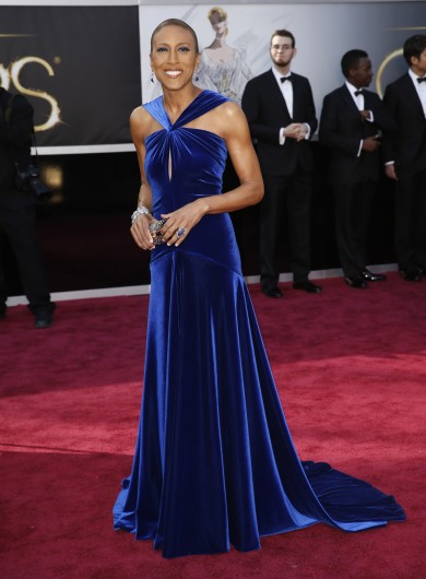 Robin Roberts arrives at the 85th annual Academy Awards at the Dolby Theatre at Hollywood & Highland Center in Los Angeles Feb. 24. Roberts came out on Facebook Dec. 29.  Credit: Courtesy of MCT
