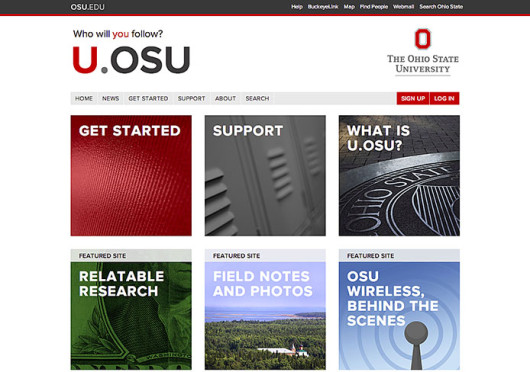 U.osu.edu is a new website for OSU students, staff and faculty to post things like projects and assignments and communicate between groups. Credit: Screenshot of u.osu.edu
