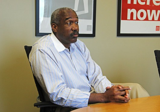 Current vice president and athletic director Gene Smith at an interview with The Lantern Oct. 12, 2012. Lantern file photo