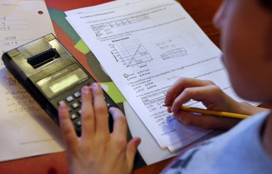 A student works on homework.  Credit: Courtesy of MCT