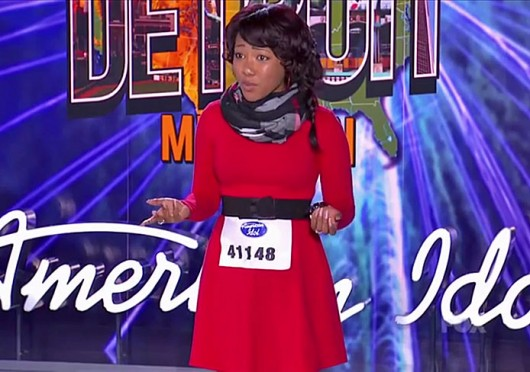 A screenshot of Columbus native Sydney Arterbridge auditioning on Fox's 'American Idol.' Credit: Fox's 'American Idol'