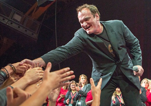 Quentin Tarantino attending the closing ceremony of the 5th Festival Lumiere in Lyon, France Oct. 20.  Credit: Courtesy of MCT