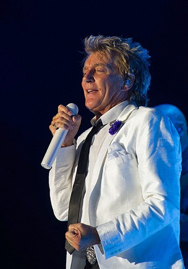 Responding to rumors of Paul McCartney and Ringo Starr reuniting next month on 'Letterman,' singer and songwriter Rod Stewart said, 'Couldn't give a f---.' Credit: Courtesy of MCT