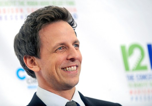 "Seth Meyers attended the Concert for Sandy Relief at Madison Square Garden in New York. On Jan. 23 it was announced that Meyers would leave ""Weekend Update."" Credit: Courtesy of MCT"