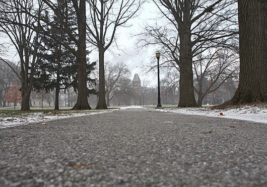 Temperatures drop on Jan. 6 forcing all of OSU's campuses to close. Credit: Shelby Lum / Photo Editor