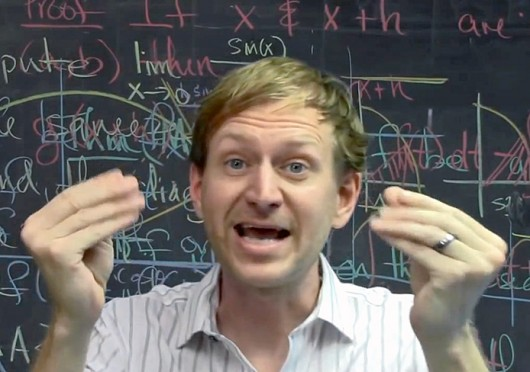 Bart Snapp, an OSU mathematics professor, helped create a Calculus One class offered through Coursera that has drawn students from around the world. Credit: Courtesy of YouTube