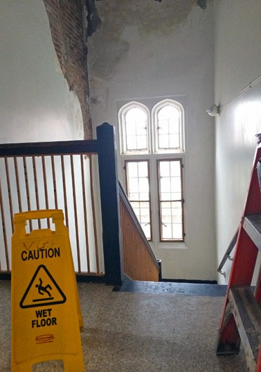 A pipe burst in Pomerene Hall Jan. 10, affecting the Office of Disability Services most. Credit: Muyao Shen / Lantern reporter
