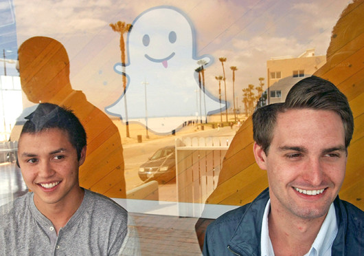 Bobby Murphy, left, and Evan Spiegel, co-creators of Snapchat, in May.