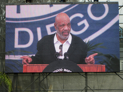 James Avery speaks at UC San Diego Thurgood Marshall College graduation in 2012. Avery died at 68 Dec. 31, 2013.  Credit: Courtesy of Akos Kokai, Creative Commons license