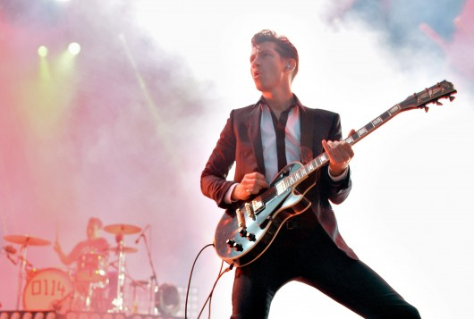 British rock band Arctic Monkeys performs live on stage during 38th edition of 'Paleo' music Festival in Nyon, Switzerland, on July 24. Credit: Courtesy of MCT