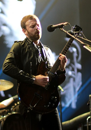 Frontman Caleb Followill of Kings of Leon performs at the Schottenstein Center Feb. 18.  Credit: Shelby Lum / Photo editor