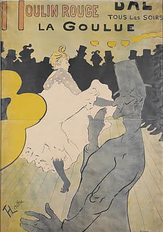 'Moulin Rouge - La Goulue' by Henri de Toulouse-Lautrec, which is set to be shown in CMA's exhibit 'Toulouse-Lautrec and La Vie Moderne' through May 18.   Credit:  Courtesy of Melissa Ferguson