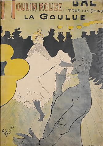 'Moulin Rouge - La Goulue' by Henri de Toulouse-Lautrec, which is set to be shown in CMA's exhibit 'Toulouse-Lautrec and La Vie Moderne' through May 18.   Credit:  Courtesy of Melissa Ferguson