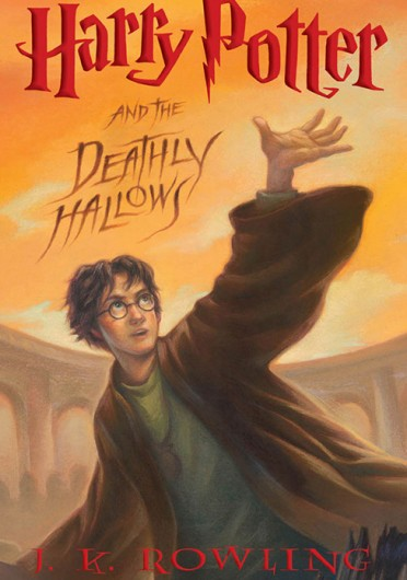 Cut-out from book cover of J.K. Rowling's 'Harry Potter and the Deathly Hollows.'